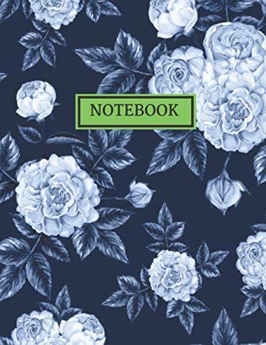 RULED NOTEBOOK: Vintage Floral Design- Journal, Notebook, Diary (College Ruled), Vintage Flower and Botanical Designs, Composition Book. Floral Tulip-rock