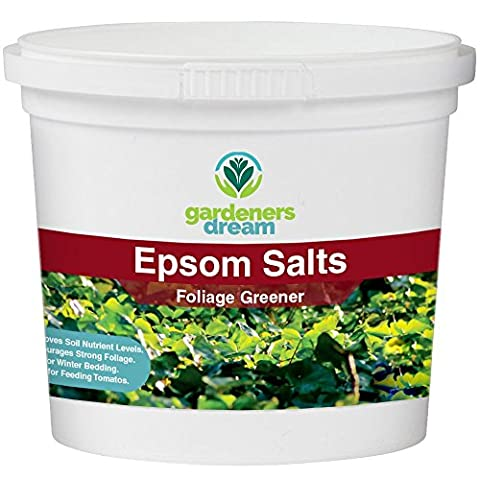 Gardenersdream - EPSOM SALTS - Foliage Greener Plant Food Garden Fertiliser Multi Purpose Organic Plant Dirt Mulch