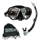 Maskenset Synergy Twin Maske und Spectra Schnorchel von Scubapro in Bomotabag in Schwarz Silber