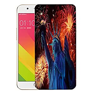 Snoogg Statue Of Liberty Designer Protective Back Case Cover For OPPO F1 PLUS