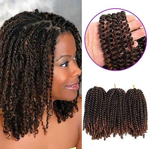 Lot de 3 extensions de cheveux synthétiques en crochet tressé