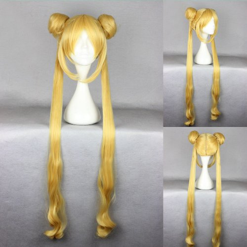 erücke blond 100cm glatt Sailor Moon Bunny Usagi Tsukino ()