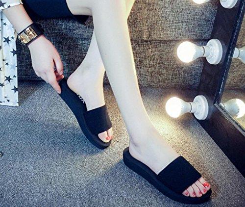 Ouneed® Flip Flops Herren Erwachsene Zehentrenner ,Mode Frauen Sommer Sandalen Slipper Indoor Outdoor Flip Flops Strand Schuhe Schwarz