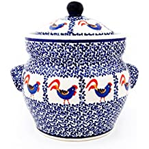 Original Bunzlauer Keramik Gärtopf / Einlegetopf / Sauerkrauttopf 3 Liter im Dekor 1090