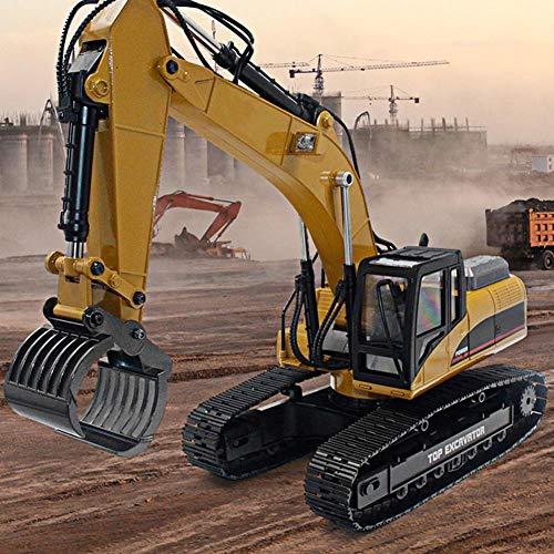 RC Auto kaufen Baufahrzeug Bild 5: Dilwe Fernbedienung Engineering Fahrzeug RC Bagger 2.4G 1:14 Skala 3 in 1 RC Elektro Modell Bagger Engineering Baufahrzeug Spielzeugauto*