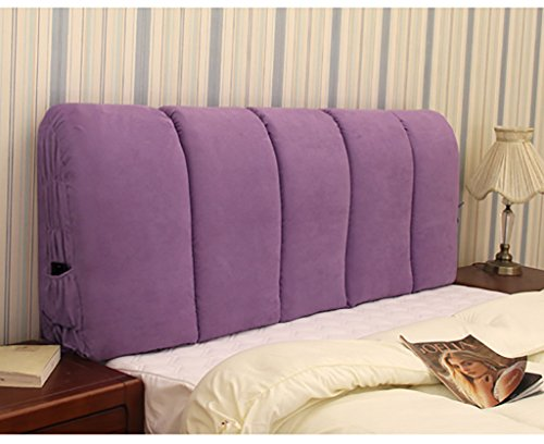 XUEYAN Moderne minimalistische Stoff Kopfteil weichen Doppelbett Abdeckung große Rückenlehne...