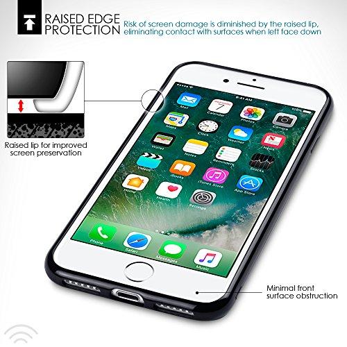 Terrapin TPU Gel Custodia per iPhone 8 / iPhone 7 Cover, Colore: Nero Opaco Nero