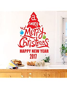 Jimmackey Blanco Copo De Nieve áRbol De Navidad CalcomaníA De Pared Home Decor Decal Para Anteojos Tiendas Ventana...