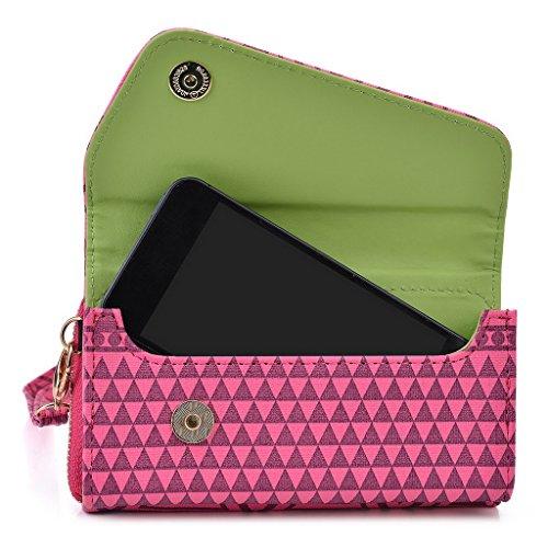 Kroo Pochette/Tribal Urban Style Téléphone Coque pour Samsung Galaxy Ace 2i8160 bleu marine Rose