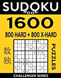 Sudoku Book 1,600 Puzzles, 800 Hard and 800 Extra Hard: Bargain Size Sudoku Puzzle Book With Two Levels of Difficulty To Improve Your Game: Volume 47 (Sudoku Book Challenger Series)