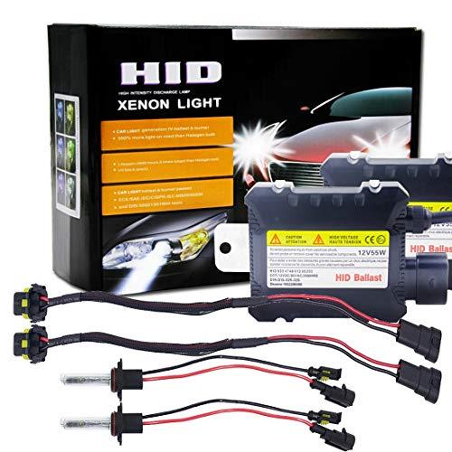 Lumières de haute qualité, 55W 9005 / H10 / HB3 6000K a caché le kit de conversion de xénon avec le ballast mince d'alliage de décharge de haute intensité, blanc