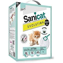 Sanicat - Litière agglomérante Evolution pour Chaton 6L