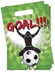 speel Goed 435230-Bolsas de Fiesta Party tasjes Goal 6Unidades, Multicolor
