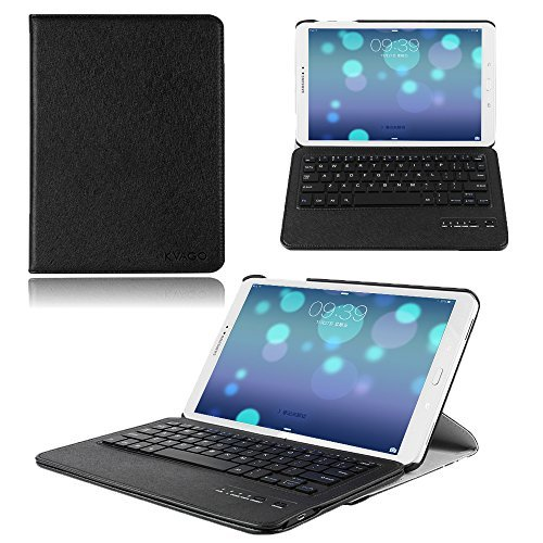 Samsung Galaxy Tab A 10.1 Keyboard Case, KVAGO 360 Degree Rotating Case with Detachable Wireless Bluetooth Keyboard Keypad Protective Cover Sleeve for Samsung Galaxy Tab A 10.1 inch - Black