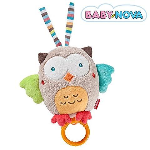 Baby-Nova Spieluhr Eule, Einschlafhilfe für Babys, Musikspieluhr Mozarts Wiegenlied, Schlafhilfe