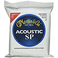 Martin 3 Pack MSP4100 Light SP Phosphor Bronze Strings 12-54