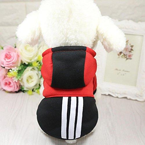 Imagen de ropa para mascotas ropa de perro caliente cachorro ropa para perros abrigo con capucha para mascotas mono de perro disfraz de mascota vestido de perro correa de gato lmmvp xxl, negro  alternativa