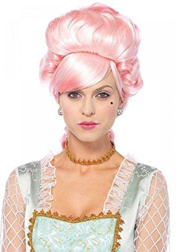 Rosafarbene Marie Antoinette Perücke von Leg Avenue Barock Rokoko Königin ()