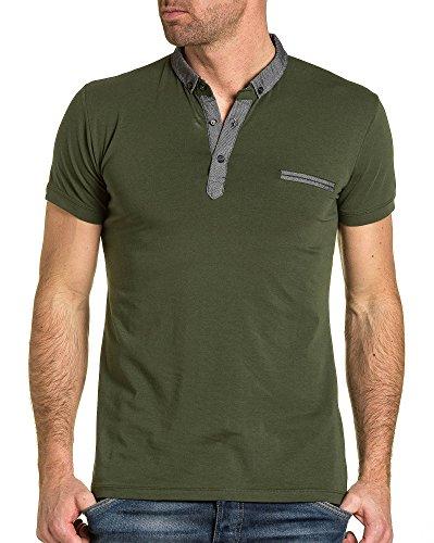BLZ jeans - Polo grundlegender menschlicher grau grün Kragen Grün