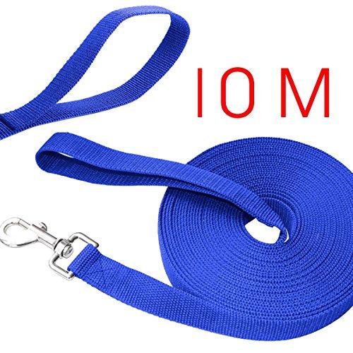 UEETEK 10 m * 2,5 cm largo perro correa plomo cachorro mascota cachorro entrenamiento obediencia...