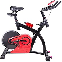 Pinty Bicicleta Estática Ejercicio Estacionaria Vertical con Pantalla LCD Equipo de Ejercicios para Gimnasio de Entrenamiento