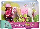 Simba 105737464 - Evi Love Puppe in Reitbekleidung mit Pferd, 3-sort.