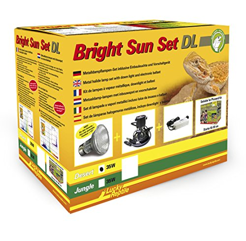 Lucky Reptile BSSDL-D35W Bright Sun Set  DL Desert 35 W, weiß (Uv Sun Bright)