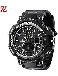 Caoutchouc Bande homme - LED numérique Sport - plongée sous-marine étanche - Quartz montre-bracelet Fulltime®