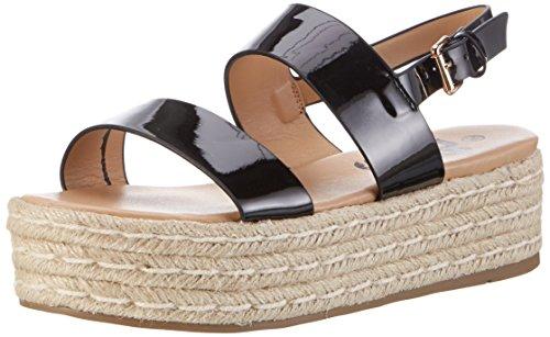 Refresh 63488, Chaussures Compensées Femme Schwarz (Negro)