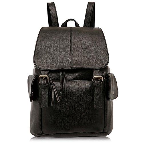 a158bb797a Outreo Sac à dos Femme Sac en Cuir Sac de Cours Sacs à Main Backpack Sac  Vintage Bag pour école Université occasionnels loisir PU Sacoche Rétro Pack