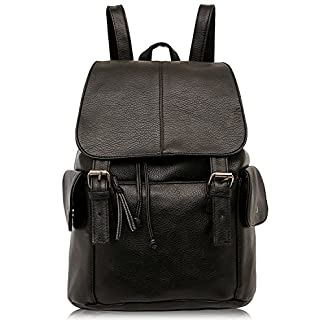 Outreo Mochilas Escolares Mujer Bolso Cuero Bolsos Mochila de Viaje bolsos de Piel para Colegio Vintage PU Casual Bag