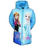 Frozen Die Eiskönigin ELSA Mädchen Winterjacke Mantel Parka gefüttert Kapuze (92, blau)