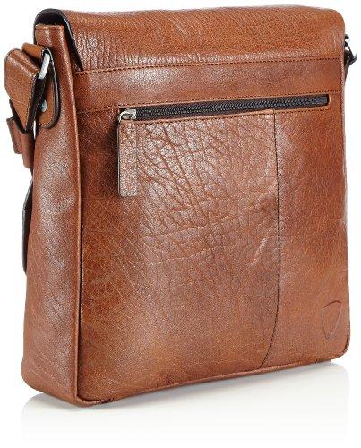Strellson Greenford Sac bandoulière cuir 30 cm compartiment ordinateur portable Braun (cognac 703)