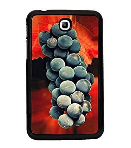 Fuson Premium 2D Back Case Cover Grapes With white Background Degined For Samsung Galaxy Tab 3 T211 P3200