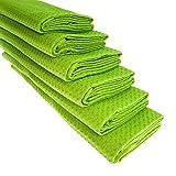 6x Geschirrtuch aus 100% Baumwolle Waffel-Piqué in hellgrün