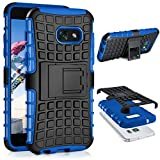 Samsung Galaxy A5 (2017) Hülle Silikon Hard-Case Blau [OneFlow Outdoor Back-Cover] Extrem Stoßfest Schutzhülle Grip Handyhülle für Samsung Galaxy A5 2017 Case Rückseite Tasche