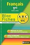 BLOC.FICHES ABC FRANC 1RES TTS