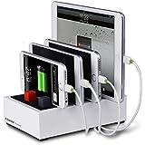 Avantree Powerhouse USB Ladegerät Multifunktions ladegerät (bis zu 4 Geräte gleichzeitig Laden) hohe Ladegeschwindigkeit, Smart Port, universal nutzbar (weiß) - Nie wieder Kabelchaos