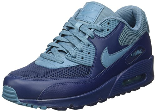 Nike Herren Air Max 90 Essential Low-Top, Blau (Midnight Navy/Smokey Blue/Midnight Navy), 41 EU (Nike Frauen Männer)