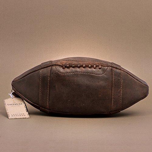 """ThumpsUp! Kulturtasche """"American Football"""" Echtleder"""