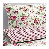 Ikea ROSALI Bettwäscheset 2tlg; (220cm x 240cm und 80cm x 80cm); 100% Baumwolle