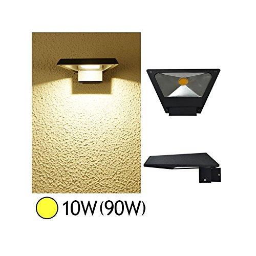 Applique murale led triangle horizontale 10 watt (eq. 100 watt) - Couleur eclairage - Blanc chaud 3000°K