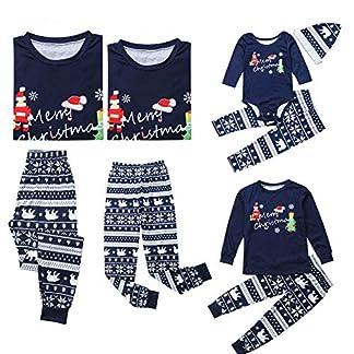 Pijamas a Juego de Navidad para PJs Familiares Conjunto Papá Mamá Niños Bebé Navidad Ropa de Poliéster Suave Ropa de Dormir