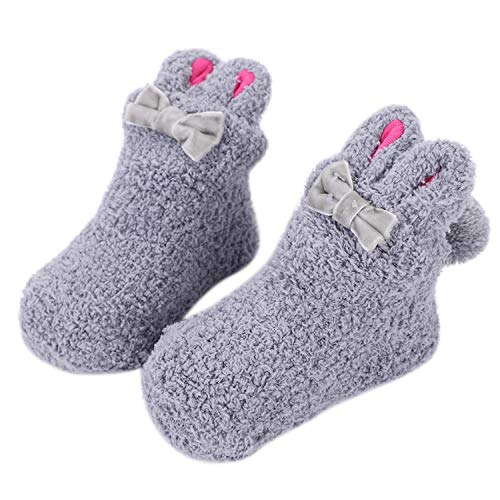 LONTG Baby Slipper Socks Anti Slip Non Skid Bambini Toddler Cute Socks con  manopole Warm Fleece Socks Booties Cartoon Animal Sock Set Prewalker  Carrozzina ... b60f18437f48