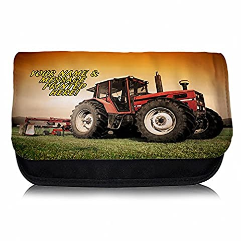 Personalised Tractor Farming Harvest St176 Pencil Case / Small Wash