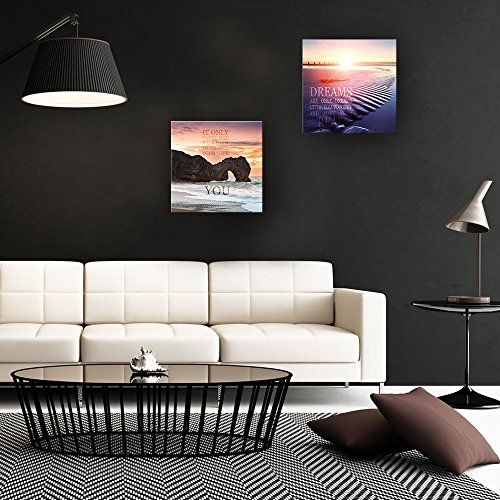 artissimo, Glasbild, 30x30cm, AG2027A, Change Your Life, Spruchbild, Motivation, Bild aus Glas mit Spruch, Moderne Wanddekoration aus Glas, Wandbild Wohnzimmer modern