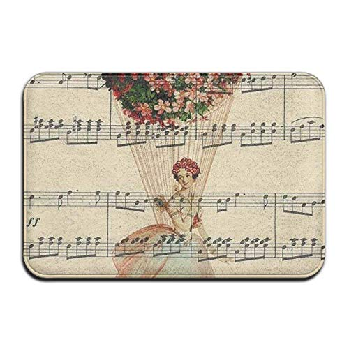 kjhglp Musical Note Music Rectangular Doormat Slip-Resistant Antiskid Thickness 2-inch(Approx. 4.5 cm) Point Plastic Anti-Slip Base Door Rugs -