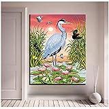nobrand Quadro Dipinto ad Olio Paesaggi Animali Dipinti su Tela per Quadri su pareti Decorazioni per la casa - 60x80 cm Senza Cornice
