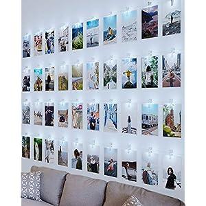 LED Fotoclips Lichterkette für Zimmer Deko, Litogo 10M 100LED Lichterkette mit 60 Klammern für Fotos Lichterkette Wand…