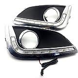 eeMrke Auto Tagfahrlicht Nebelscheinwerfer Schutzsatz LED TAGFAHRLEUCHTEN DRL-Blinker-Licht für IX35 2010 2011 2012